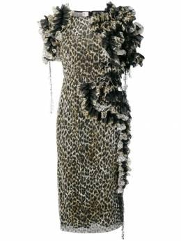 Antonio Marras платье с леопардовым принтом и оборками LB5067TEDD68S9