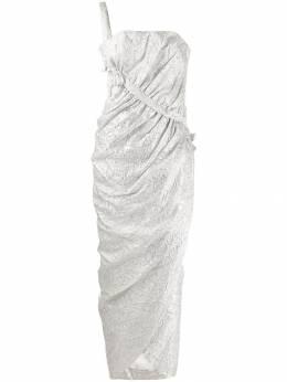 A.N.G.E.L.O. Vintage Cult присборенное жаккардовое платье 1960-х годов AVC750