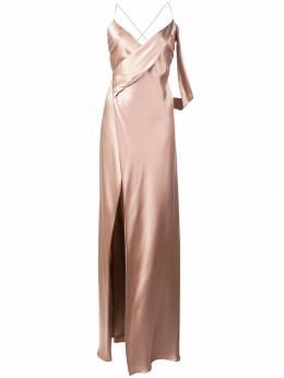 Michelle Mason платье Strappy с запахом M9146