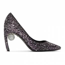 Nicholas Kirkwood Purple Glitter Maeva Pumps 909A02GLIT
