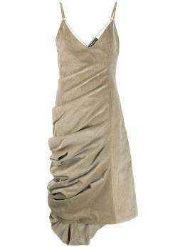Y / Project вельветовое платье со сборками WDRESS61S17CF27