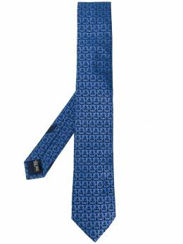 Salvatore Ferragamo галстук с узором Gancio 712014