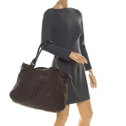 Burberry Brown Leather Shoulder Bag 216073