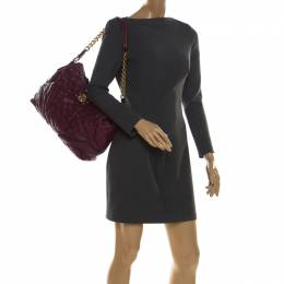 Marc Jacob Burgundy Quilted Leather Shoulder Bag Marc By Marc Jacobs 213072