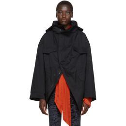 Balenciaga Black Cotton Twill Swing Jacket 583880-TBP01