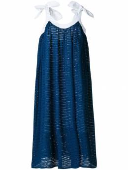 Natasha Zinko свободное платье с завязками на плечах R810102