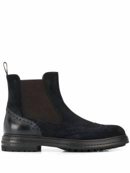 Santoni ботинки челси с контрастными вставками MGMI16282JL9EZAK