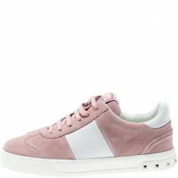 Valentino Loto/Bianco Suede and Leather Flycrew Lace Up Sneakers Size 37.5 291029
