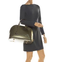Louis Vuitton Vert Bronze Monogram Vernis Alma GM Bag 215664