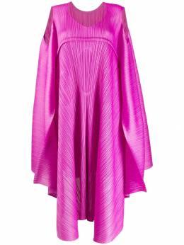 Pleats Please Issey Miyake плиссированное платье с драпировкой PP98JH515