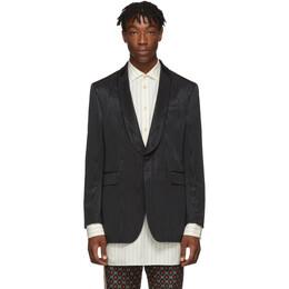 Gucci Black Moire Blazer 595411 ZACFS