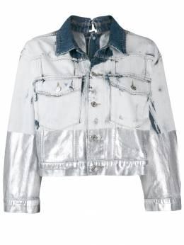 Diesel джинсовая куртка с эффектом металлик 00SUI40890Q