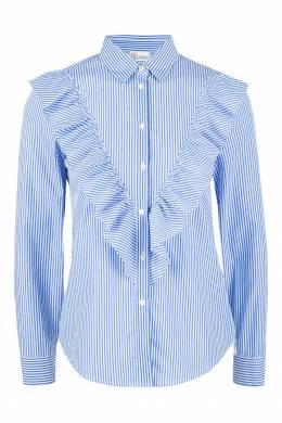 Рубашка в полоску с воланами Red Valentino 986146876