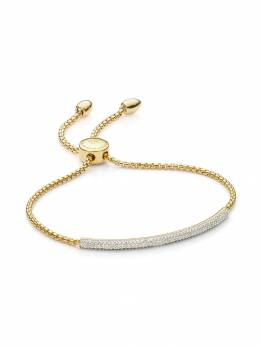 Monica Vinader GP Fiji Diamond Mini Bar bracelet GPBMEPMBDIA