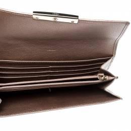 Cartier Metallic Peach Leather Continental Wallet