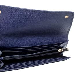 Furla Midnight Blue Leather Babylon XL Bi-Fold Wallet