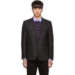 Paul Smith Grey Wool Pinstripe Blazer M1R-1937-A00817