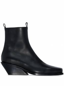 Ann Demeulemeester ковбойские ботинки на танкетке 19022880363099