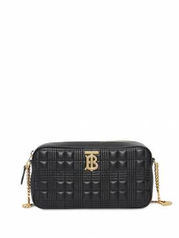 Burberry стеганая каркасная сумка в клетку 8020713
