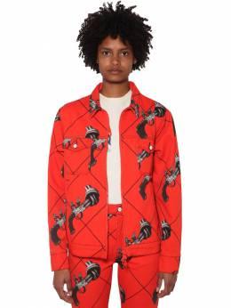 Куртка Из Хлопкового Деним С Принтом Kirin 70IDLH027-MjE4MA2