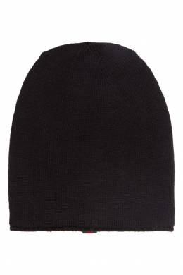 Черная шерстяная шапка Gucci Man 2674147007