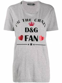 Dolce&Gabbana футболка с логотипом F8K74TG7TAM