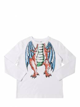 Футболка Из Хлопкового Джерси Stella McCartney Kids 70I6SJ017-OTA4Mg2