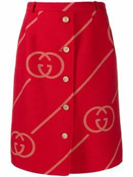 Gucci юбка с логотипом GG 577752ZABXV