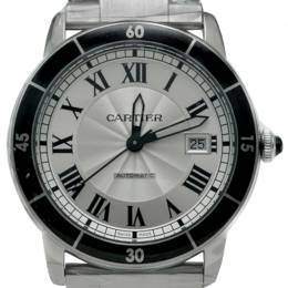 Cartier Silver Dial Ronde Croisiere Stainless Steel Automatic Men's Watch 42MM 219724