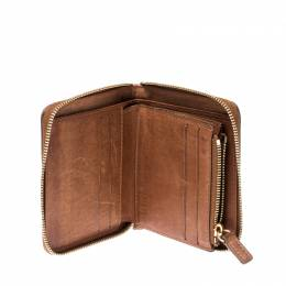 Celine Brown/Grey Canvas and Leather Macadam Compact Wallet