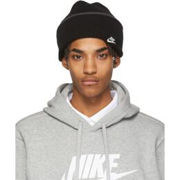 Nike Black Cuffed Logo Beanie 192011M13800101GB