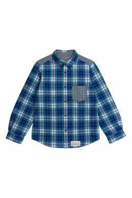 Рубашка в клетку с карманом Bonpoint 1210147752