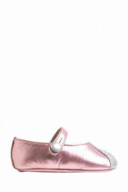 Розовые туфли с вышивкой Bonpoint 1210147703
