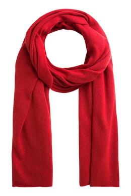 Вязаный шарф красного цвета Bonpoint 1210147594