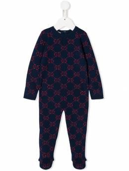 Gucci Kids пижамный комбинезон с логотипом GG 571724XKAEF