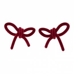 Shushu/Tong Red Velvet Bow Earrings aw2020ac11
