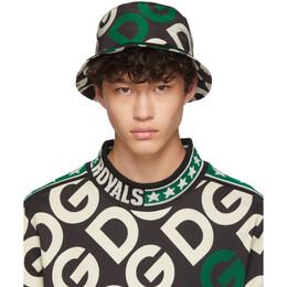 Dolce&Gabbana Black Logo Bucket Hat 192003M14000101GB