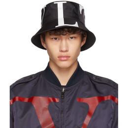 Valentino Black Valentino Garavani VLTN Bucket Hat 192476M14000103GB