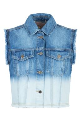 Синий джинсовый жилет с декором Twin-Set 1506143421