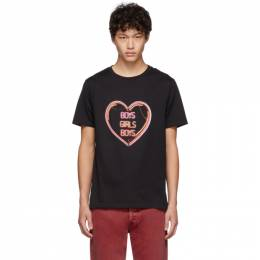Neil Barrett Black Oversized Boys Girls Boys T-Shirt BJT604S M560S