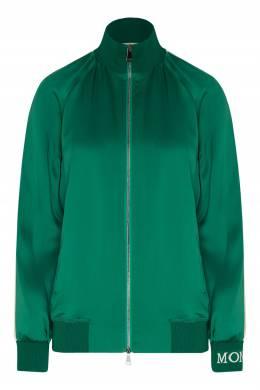 Зеленая олимпийка с контрастной отделкой Moncler 34147943