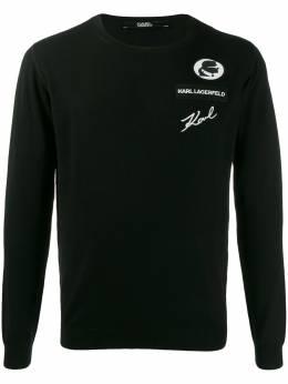Karl Lagerfeld свитер с вышитым логотипом 6550070592399