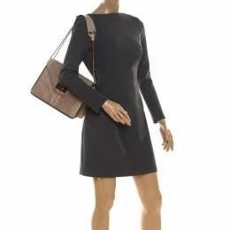Chloe Beige Leather and Python Medium Sally Shoulder Bag 218057