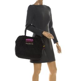 Sonia Rykiel Black Nylon Drawstring Shoulder Bag 217001