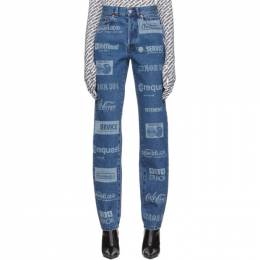 Vetements Blue Fully Branded Jeans WAH20PA307