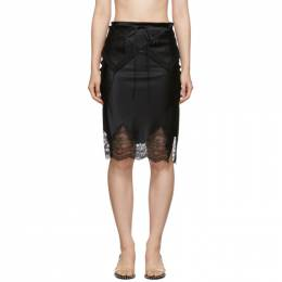 Alexander Wang Black Tie Fold Over Slip Skirt 1WC2195114