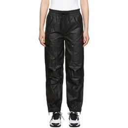 Alexander Wang Black Pleather Chynatown Track Pants UWC2194007