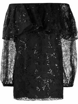 Rotate кружевное платье с открытыми плечами 900274