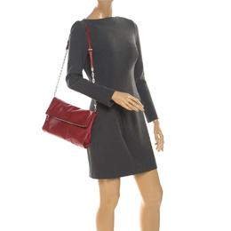 Prada Red Leather Folded Crossbody Bag 219880