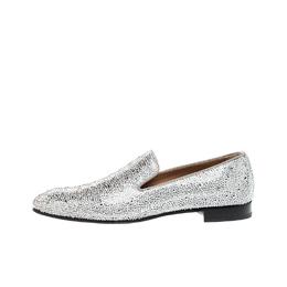Christian Louboutin Swarovski Dandelion Strass Loafers Size 42 220880
